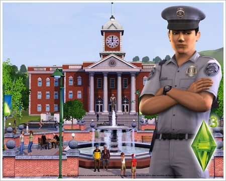 1280x1024 Sims3 Cityhall